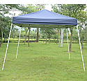 10 x 10 Blue Outdoor Slant Leg Easy Pop Up Popup Canopy Party Sun Shade Tent  GREAT For The BEACH!!  UV protectant canvas top  We will deliver to your rental property FREE with your other beach or baby equipment.  Comes with storage bag so you can take it