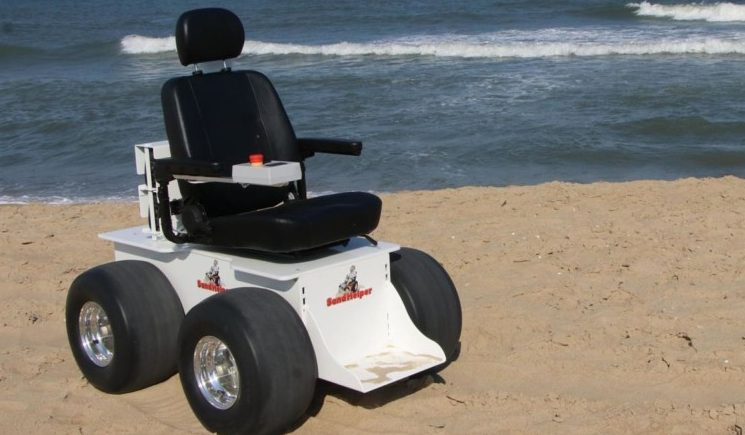 Sand Helper Electric Beach Wheel Chair